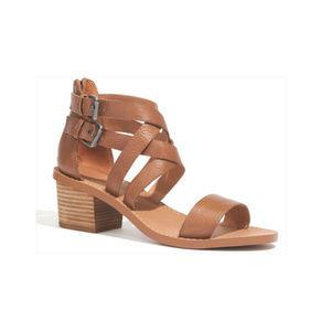 Madewell Lora Sandal Leather Cross-Strap Mid-Heel